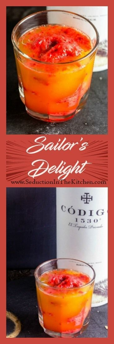 """Sailor's Delight is an easy #tequila #cocktail that is based on the old saying: """"Red Sky In The Morning, Sailors, Take Warning. Red Skies At Night, Sailor's via @SeductionRecipe"""