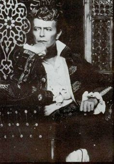 David Bowie's alter ego, Screaming Lord Byron offstage.