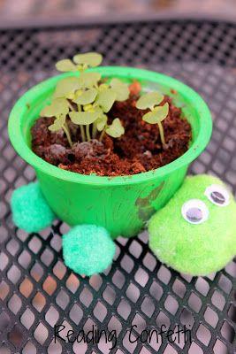 Eine unterhaltsame Art, Kräuterpflanzgefäße aus recycelten Materialien herzustellen. Beinhaltet eine Alphabetisie …   – Kindergeburtstag-schildi