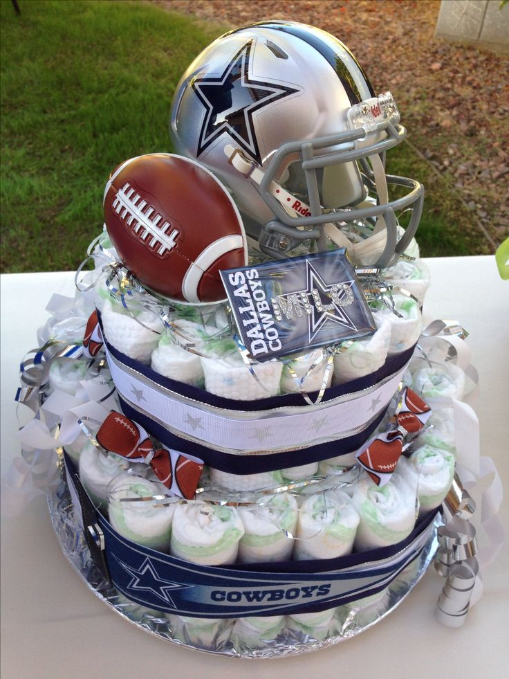 dallas cowboys diaper cake baby shower diaper cakes pinterest