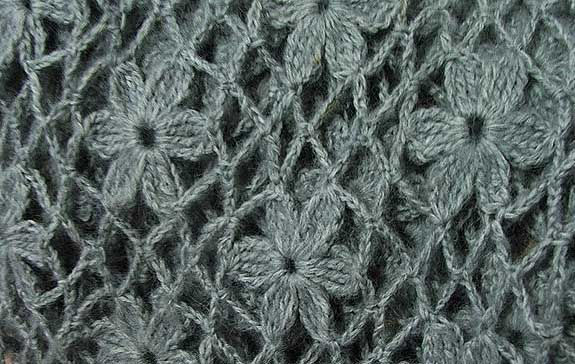 flower crochet stitch - step by step photo tutorial with diagram for each step!