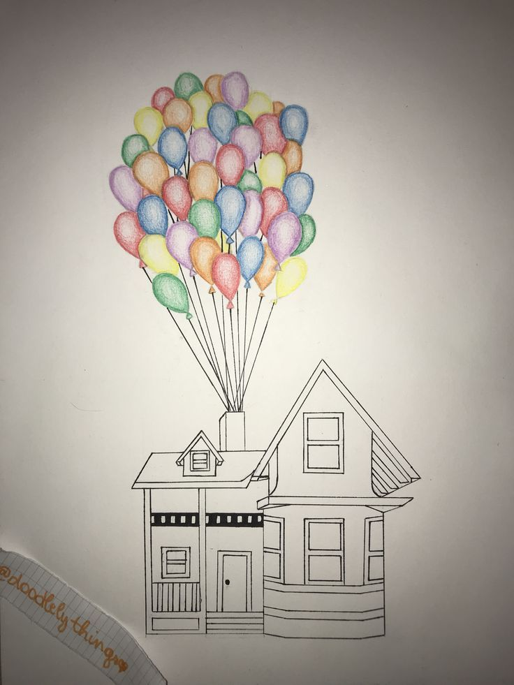 drawing simple easy drawings balloons draw tutorials balloon