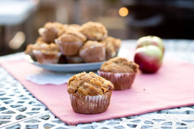 These apple cinnamon muffins with a crunchy sugar top are surprisingly healthy and perfectly delicious.