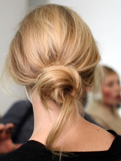Loose messy bun for summer