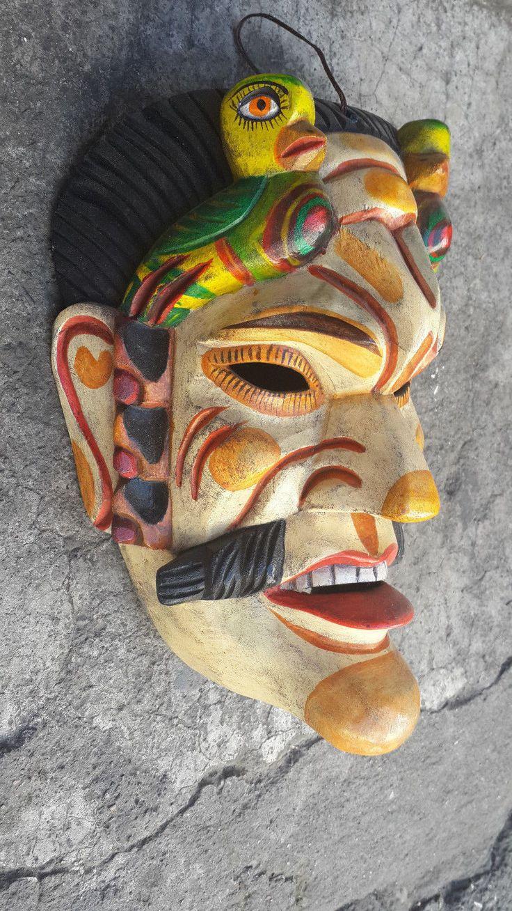 AUTHENTIC Guatemalan Mask: TEKUM, Tecun Uman, Carnival, (SOLOLA)   eBay