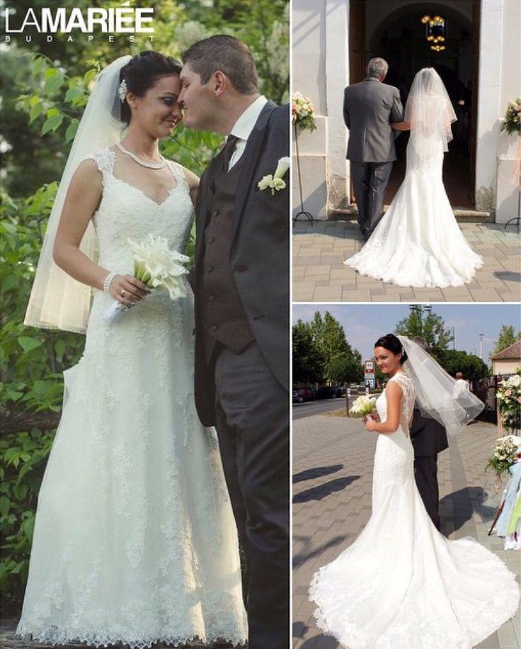 Laren esküvői ruha - Pronovias kollekció -  Boglarka bride by La Mariee Budapest http://lamariee.hu/eskuvoi-ruha/pronovias/laren