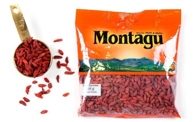 Goji berries are some of nature's superfoods! Goji berries are loaded with beta-carotene which helps promote healthy skin. They have been known to help boost the immune system and protect the eyes