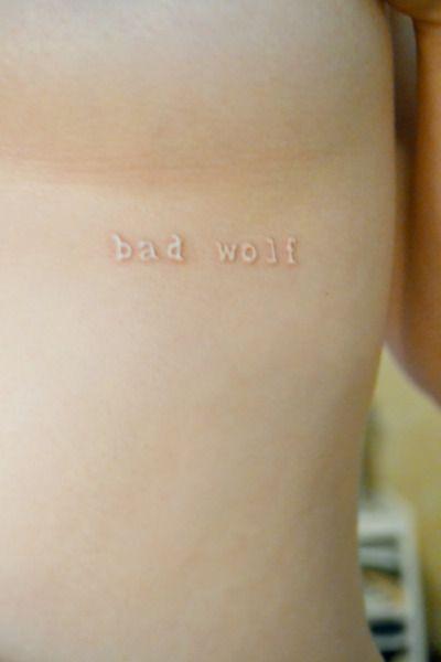 Fantastic Whovian tattoo.