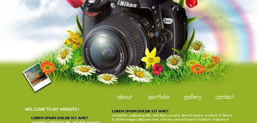 superb photoshop web layout