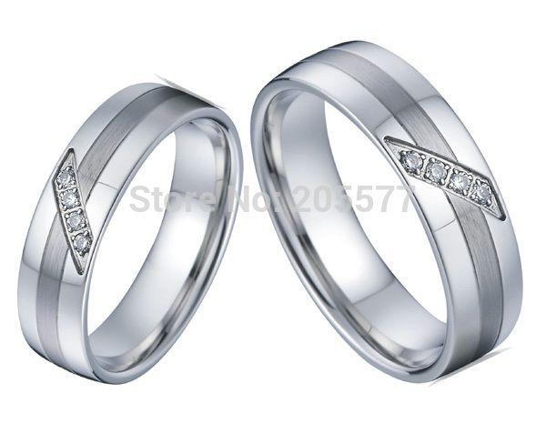 Ручной работы на заказ белый золотой цвет титана гомосексуальная лесбиянок обручальные кольца обручальное кольцо обручальное пары кольца наборы для Les