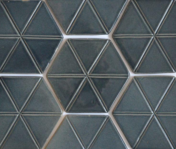 Grey hexagon tiles.