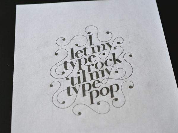 Type Rock by Ryan Hamrick, via Behance