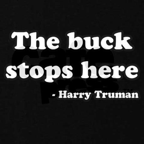 Harry Truman Quote Sweatshirt on CafePress.com