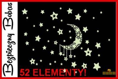 gwiazdki fluorescencyjne, naklejki ścienne, pokój dziecięcy