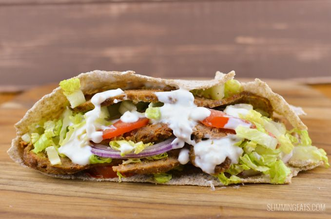 Slimming Eats Doner Kebab Fakeaway Night - Slimming World and Weight Watchers friendly
