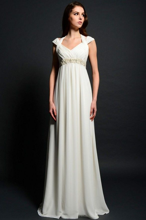 Pretty informal wedding dress for the mature bride eden for Wedding dresses for plus size mature brides