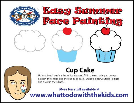 Simple and Easy Face Painting Design - Cup Cake | Easy Summer Face ...