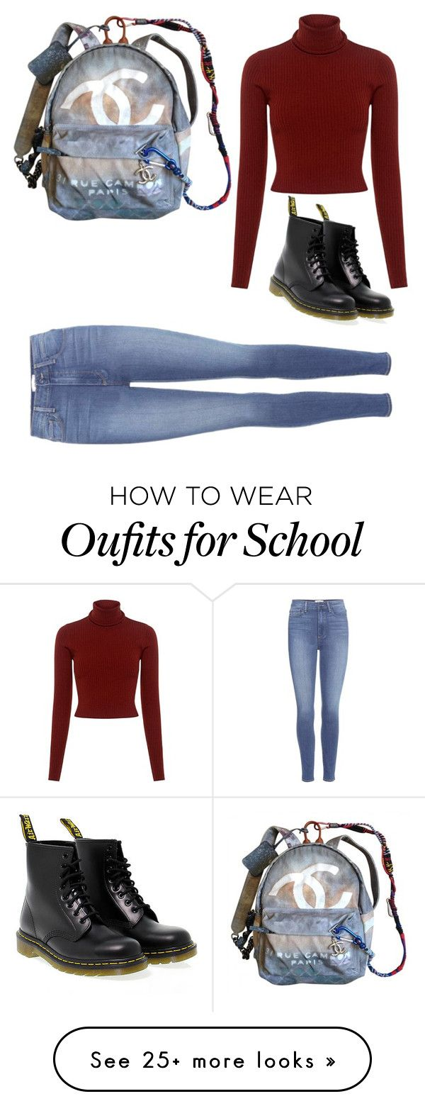"""Back to school outfit"" by rosela-tufaj on Polyvore featuring Chanel, A.L.C., Paige Denim and Dr. Martens"