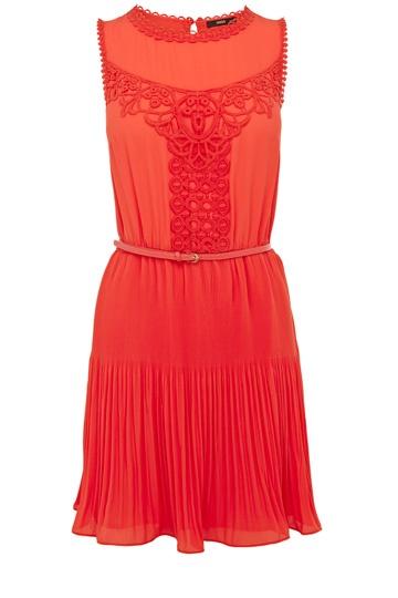 {victoriana lace dress in orange - oasis}