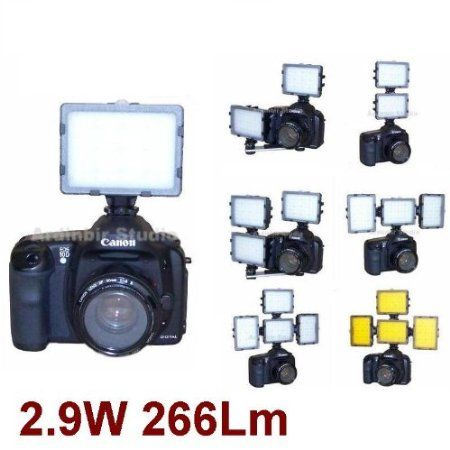 Camera Continuous LED Light for Canon EOS 450d, 1000d, 550d, 400d, 500d, 350d, Xsi, T1i, T2i, Xti, Xs, Xt, 50d, 40d, 10d, 20d, 7d, 5d Mark I...