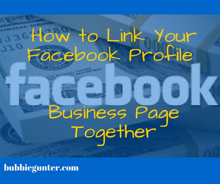 Linking your Facebook Profile Page and your Business Page together helps increase page engagements, let's more people see your products and services. https://youtu.be/Askfmc_rRHM