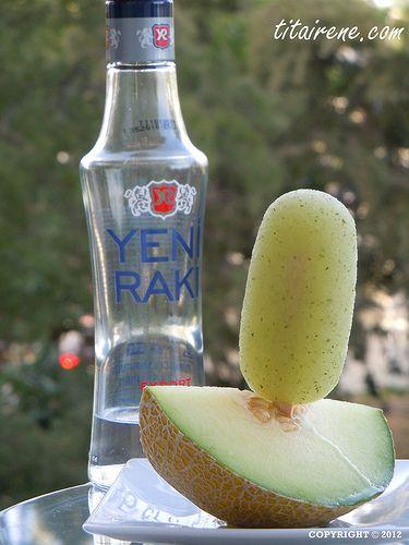 My Adult Summer Pleasure: Melon, Mint & Raki Ice Popsicle  Benim Rakili Kavunlu Buz Dondurma ne diyorsunuz?