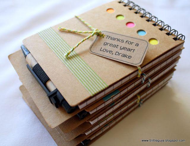Teacher Appreciation Gifts #PYPnotebooks #washitape #bakerstwine
