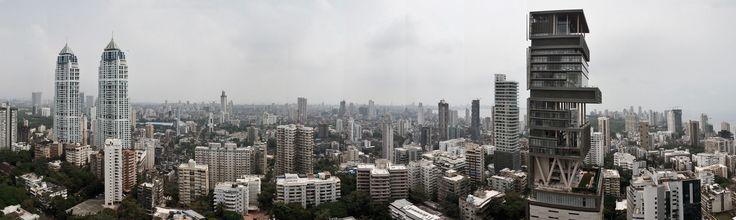 Architecture BRIO - Panorama Skyline of South Mumbai Ambani Tower - Imperial Tower