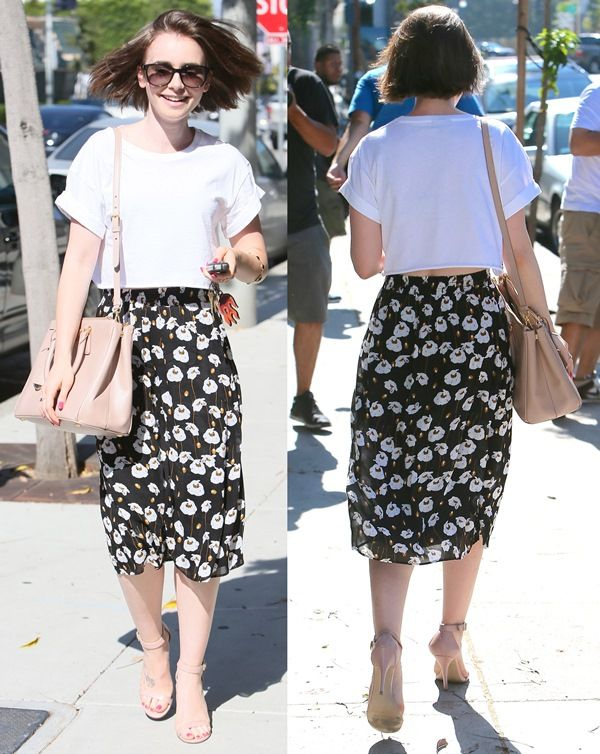 Lily Collins Leaving Andy Lecompte Hair Salon