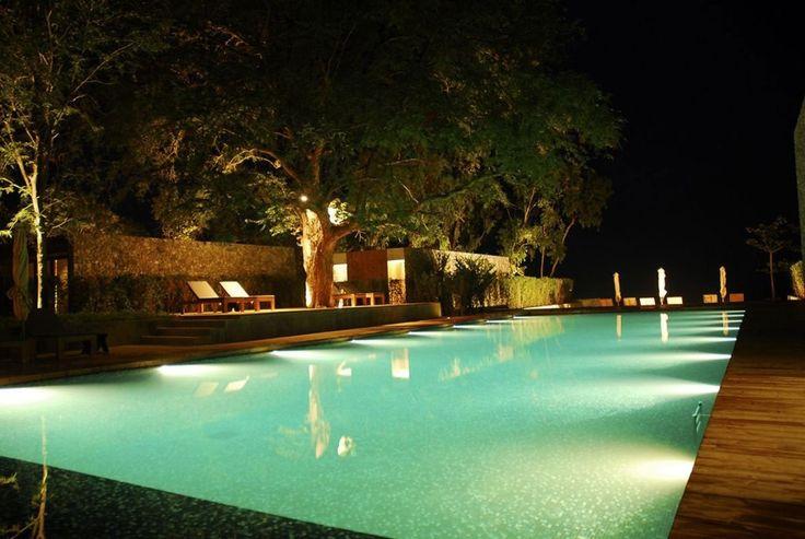 ingenious landscape lighting around pool. 21 Beautiful Swimming Pool Lighting Ideas 10 best Underwater Light images on Pinterest