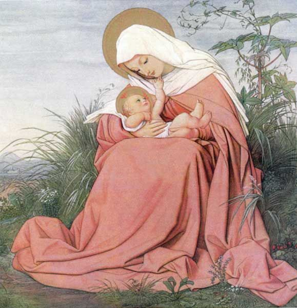 """The virgin and Child 