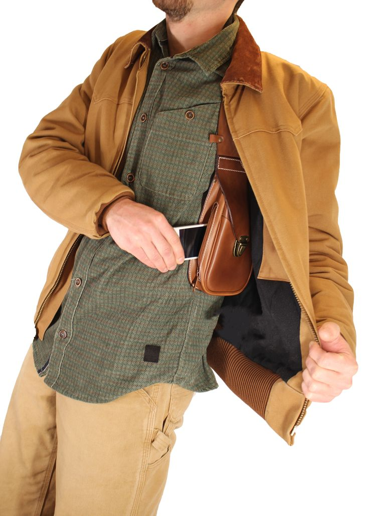 Sacoche holster DELUXE - leather shoulder holster bag DELUXE                                                                                                                                                                                 More