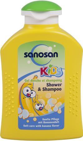 Шампунь Sanosan  — 215р. --------------------------------------- Гель для душа и шампунь Sanosan Банан. Специально разработан для купания и мытья волос. Благодаря особенно мягкому составу очень бережно очищает и ухаживает за нежной кожей малыша. Мягкие детские волосы не путаются и легко расчесываются, приобретая шелковистый блеск. Применение: небольшое количество средства нанесите и равномерно распределите на теле и волосах, вспеньте и ополосните теплой водой. Особенности:  Специально…