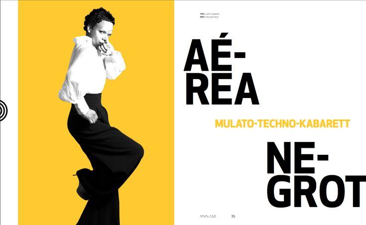 En Portada: Aerea Negrot  #AereaNegrot #MinimalDesign #GermanyDesign #Germany #Minimal #RevistaMarvin #Marvin #ArtDirection #Magazine #EditorialDesign #Editorial #GraphicDesign