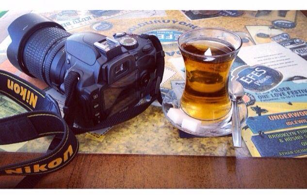 My love: Nikon and Apple tee