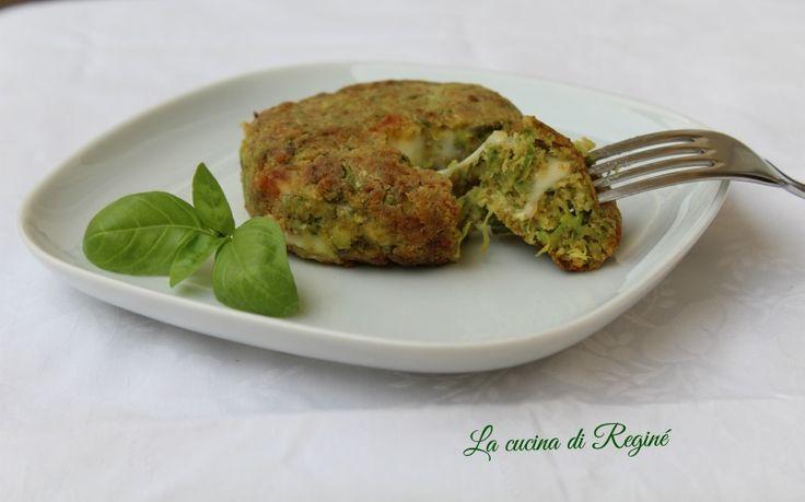 Burger di zucchine, un secondo piatto vegetariano, ancora più leggero perché fritto ad aria nella nuova friggitrice Airfryer Philips