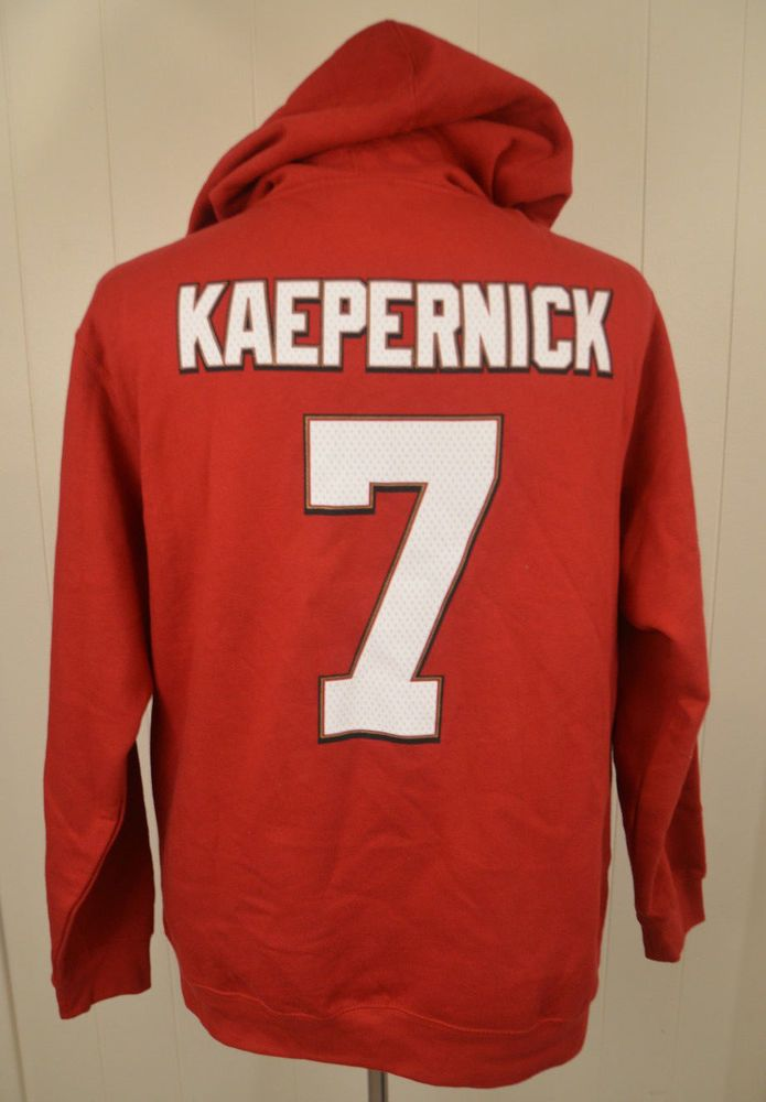 New San Francisco 49ers  7 Colin Kaepernick Hooded Sweatshirt Adult Large  Hoodie  NFL  SanFrancisco49ers da8d8aa66