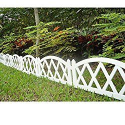 Worth Garden Plastic Fence Pickets Indoor Outdoor Protective Guard Edging Decor #3118