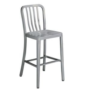 Home Decorators Collection Sandra 24 in. Brushed Aluminum Bar Stool 2478600440 at The Home Depot - Mobile