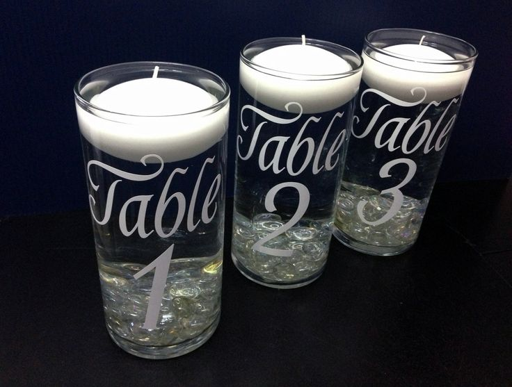Put inside the lantern?    Table Numbers  Wedding Floating Candle by TheCraftyGeeks on Etsy, $7.00