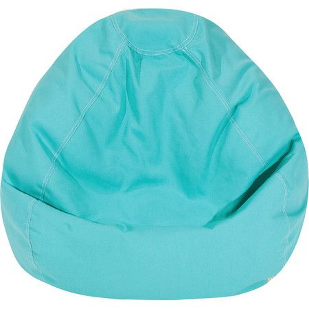 Curl up with your latest read in the sunroom or offer an extra seat on movie night with this bright teal bean bag chair.   Product: ...