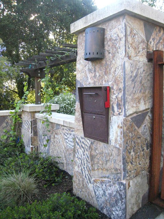 Stone Mailbox Pillars : Best images about mailbox on pinterest wall mount