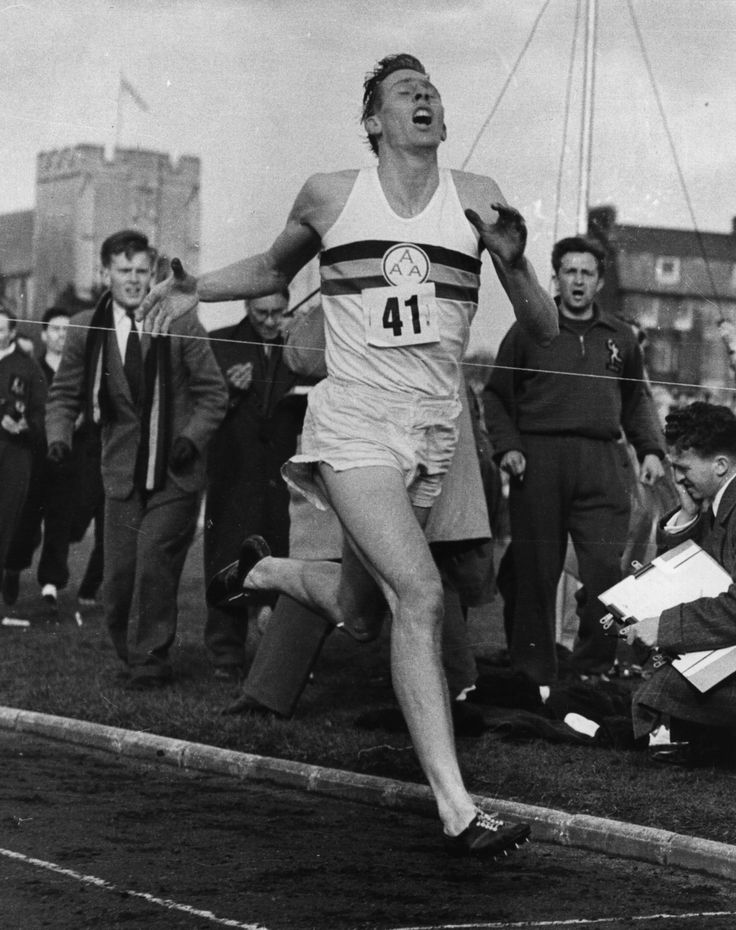 Sir Roger Bannister who broke the record by running a mile in just under 4 minutes. 'The 4 minute mile.'