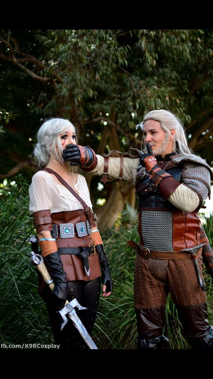 Shut up Ciri- Geralt and Ciri cosplay by Lucid in Rapture cosplay and Sparta cos on Facebook