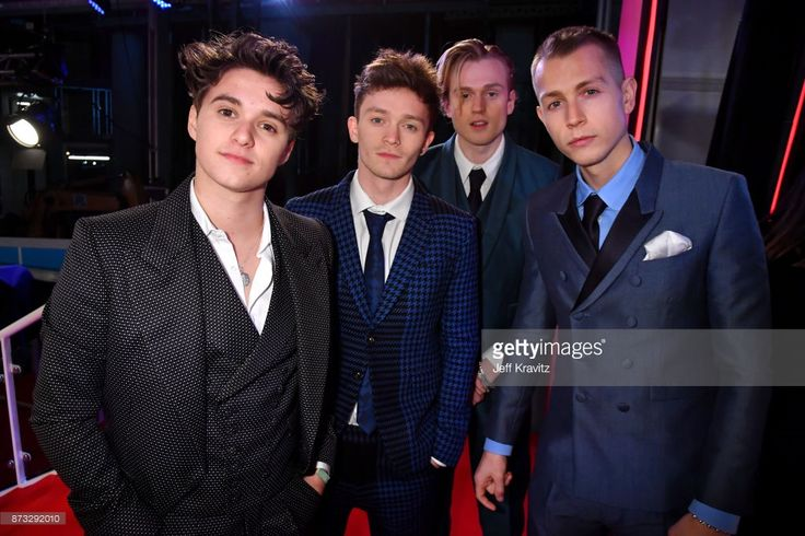 Bradley Simpson, Connor Ball, Tristan Evans and James McVey of The Vamps attend the MTV EMAs 2017 held at The SSE Arena, Wembley on November 12, 2017 in London, England.