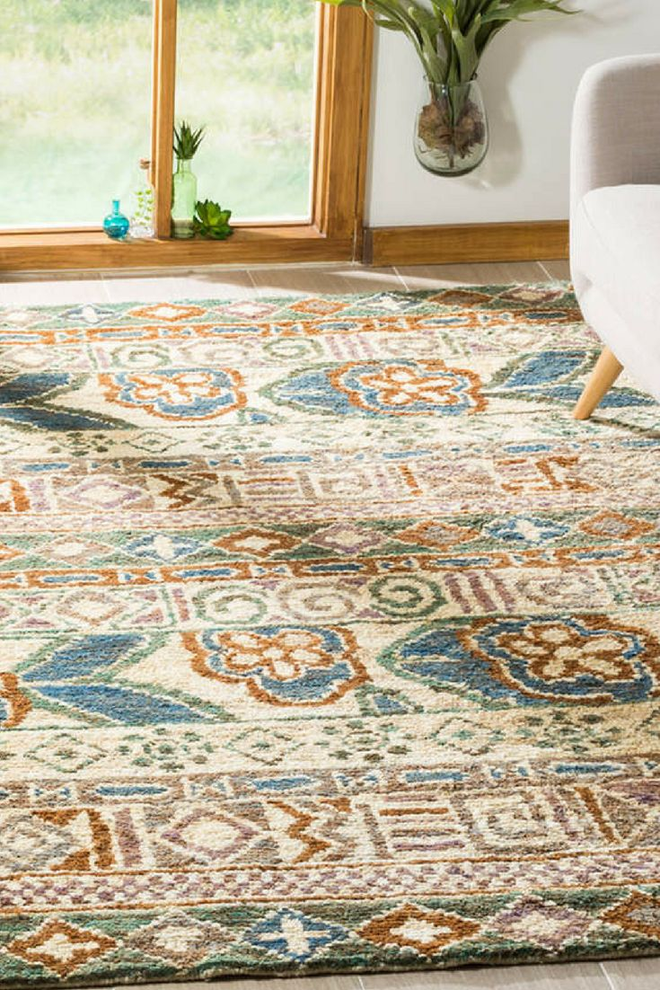 Huge Sale. Bohemian Hand-Knotted Jute Rug: Features an intricate design *0.75 pile *Longest lasting construction. Good ones can last 10 to 25 years. #rugs #arearugs #rugsforbedroom #bohemianrugs #handmaderugs. *aff*