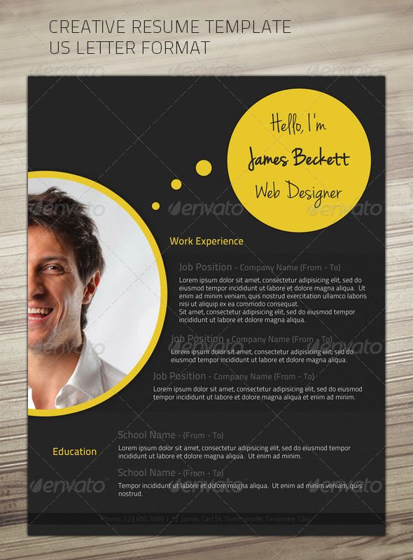 US Letter Layout Resume Template Whats in the file: 1 layered PSD file. Print ready CMYK Size: US Letter Free fonts used:Titil
