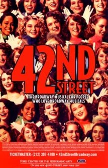 Broadway's 42nd Street Musical was good but doesn't hold a candle to Phantom.