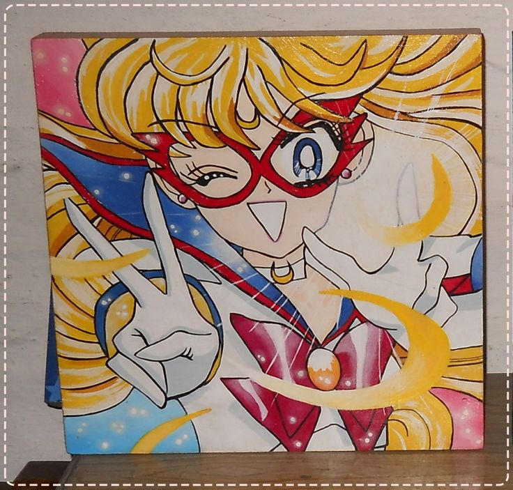Minako /Sailor V Hand painted 30x30cm♥ #Sailormoon #SailorV