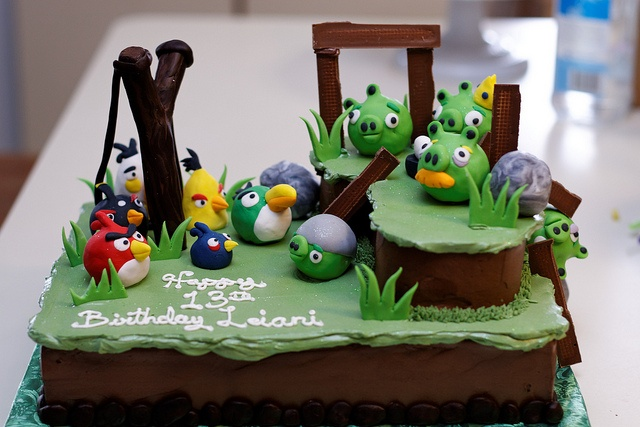tons of angry birds party ideas
